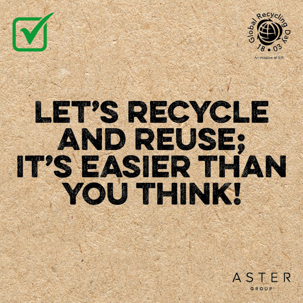 Let's recycle and reuse; it's easier than you think!